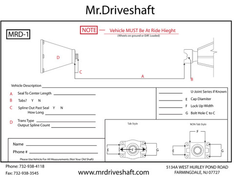 how to measure a drive shaft for shortening
